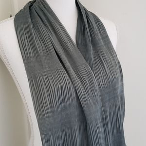 100% Silk Smokey Grey Blue Italian Scarf